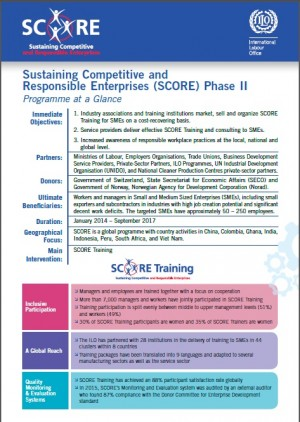 Brochure: SCORE Programme Brief