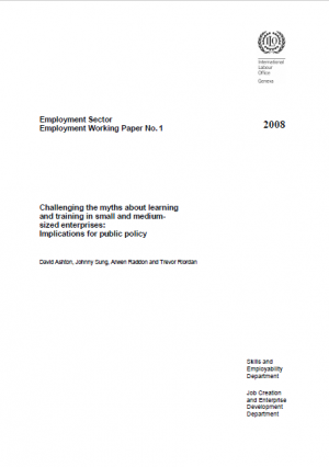 Challenging the myths about learning and training in small and medium-sized enterprises_ implications for public policy