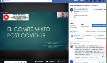 Formadores SCORE de Bolivia promueven acciones que faciliten la adaptación de empresas frente al COVID-19